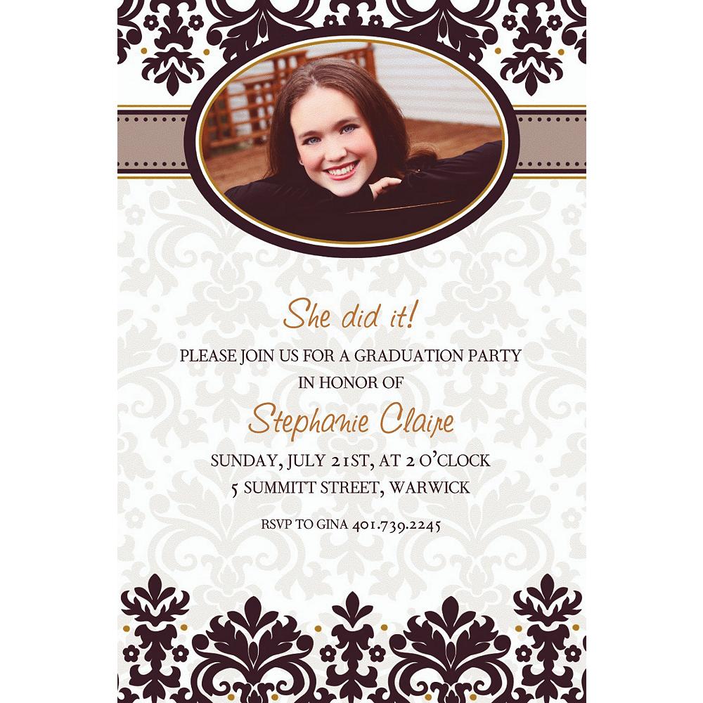 Custom Black & White Photo Invitations  Image #1