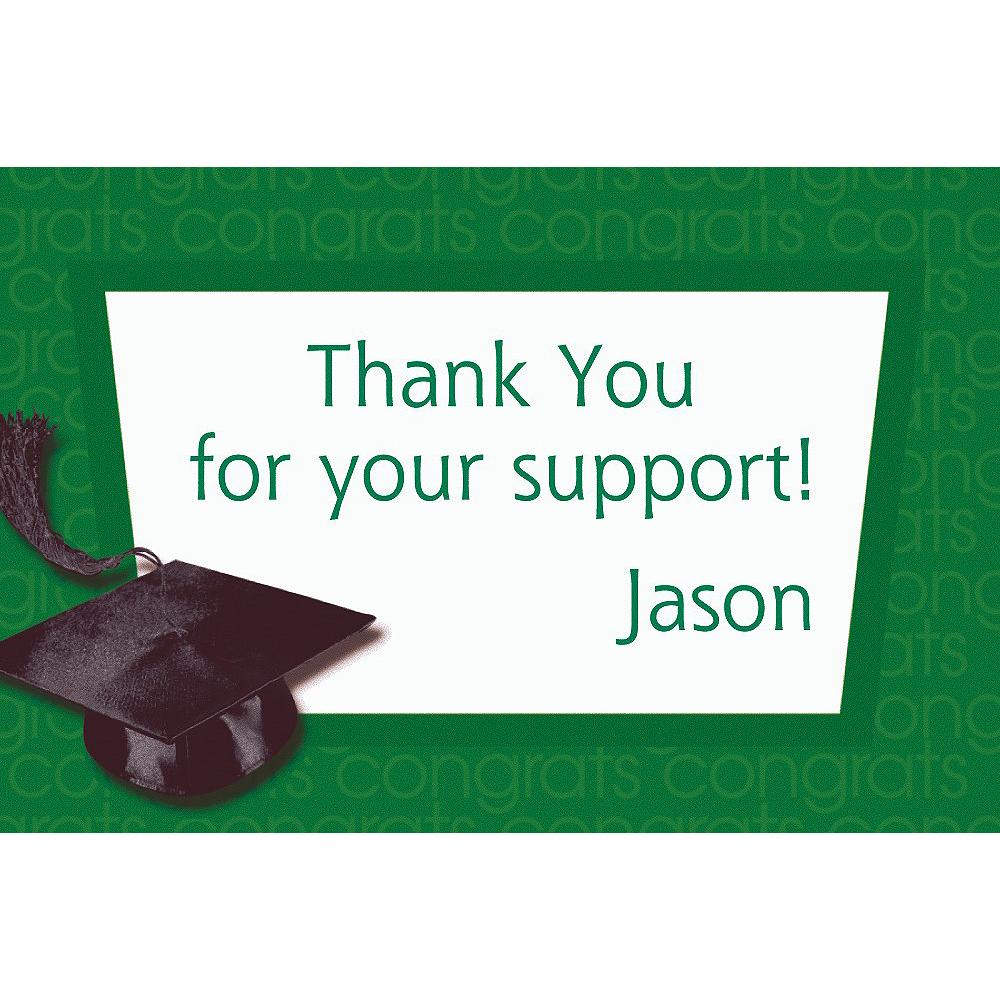 Custom Green Congrats Grad Thank You Notes  Image #1