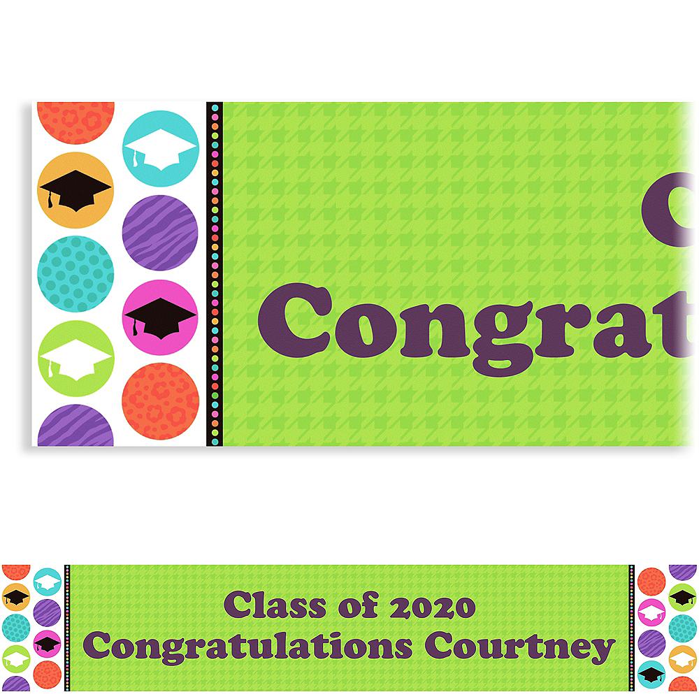 Custom Colorful Commencement Graduation Banner 6ft  Image #1