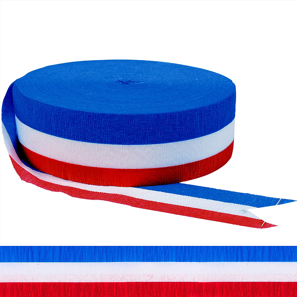 Patriotic Red, White & Blue Streamer Image #1