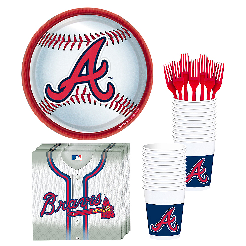 Atlanta Braves Party Kit for 18 Guests Image #1