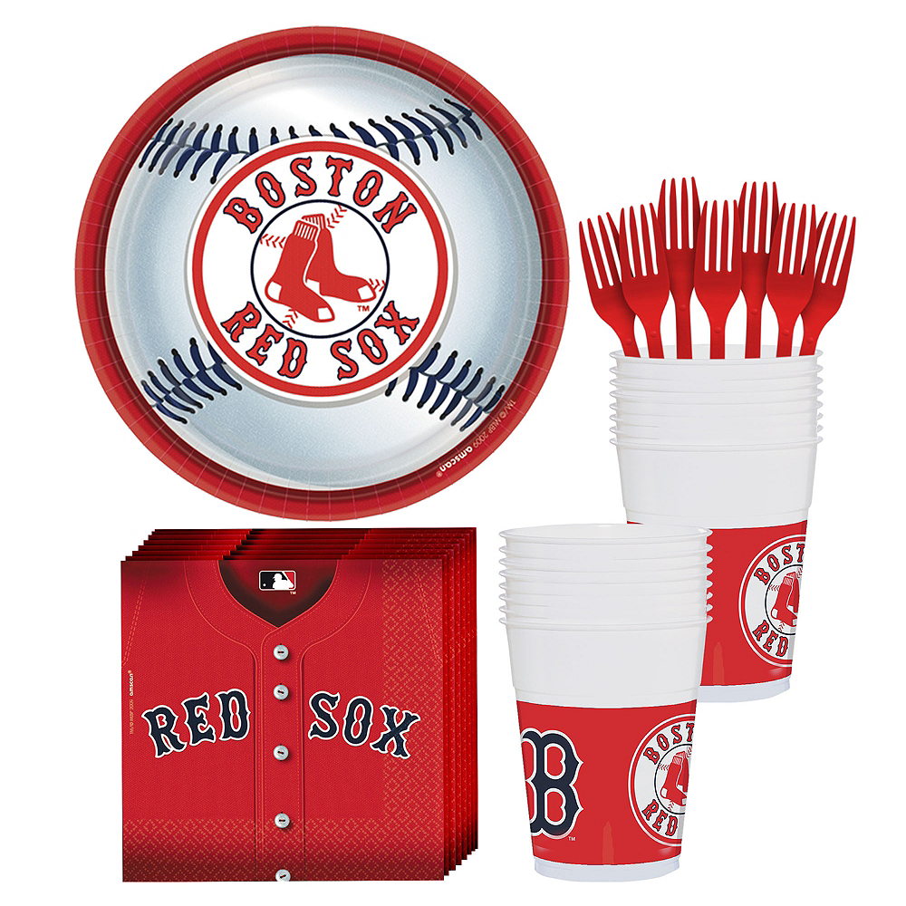 Boston Red Sox Party Kit for 18 Guests Image #1