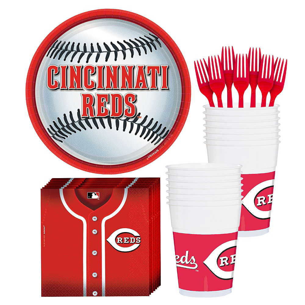 Cincinnati Reds Party Kit for 18 Guests Image #1