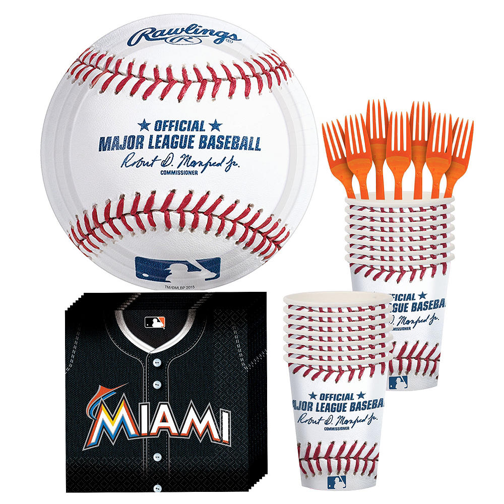 Miami Marlins Party Kit for 16 Guests Image #1