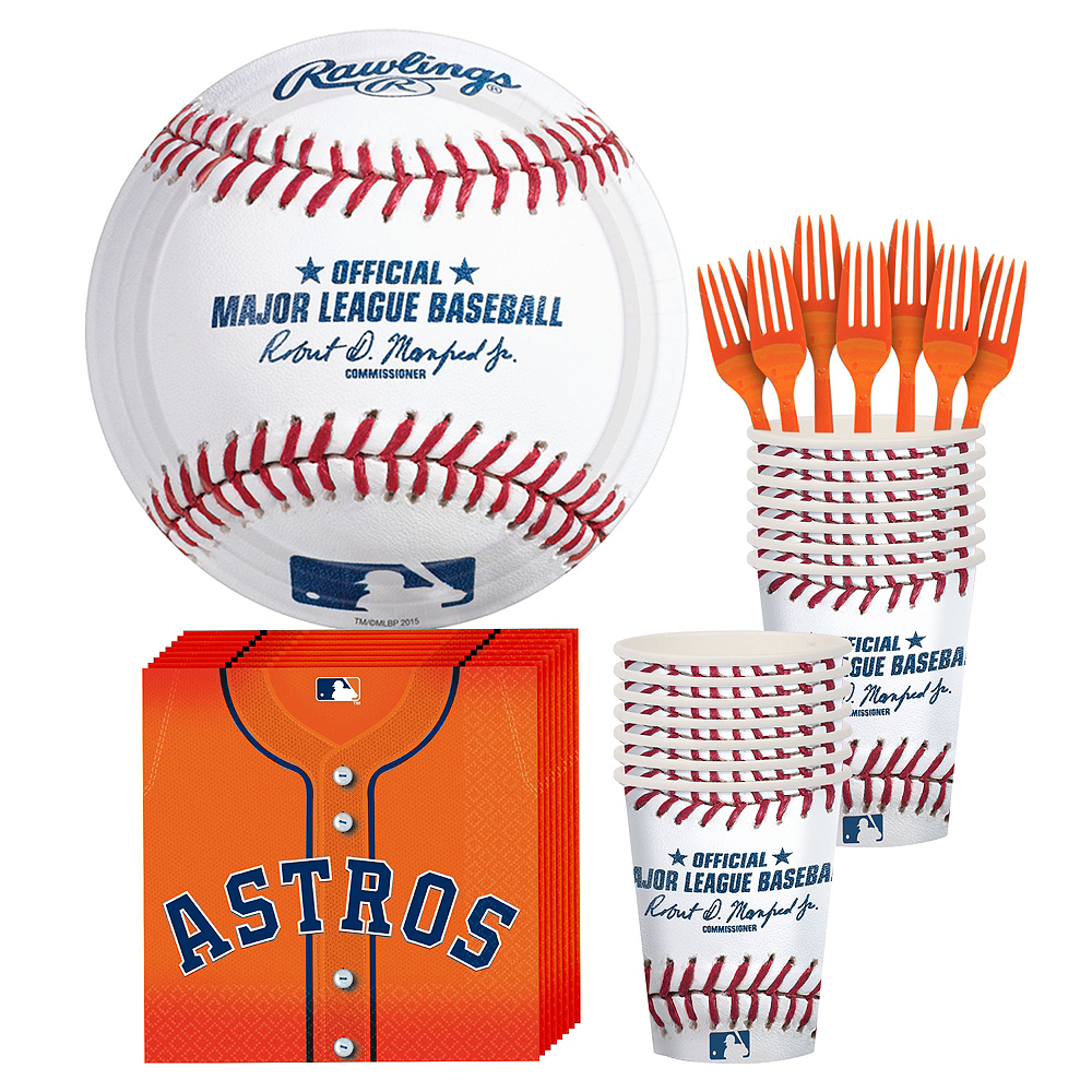 Houston Astros Party Kit for 16 Guests Image #1