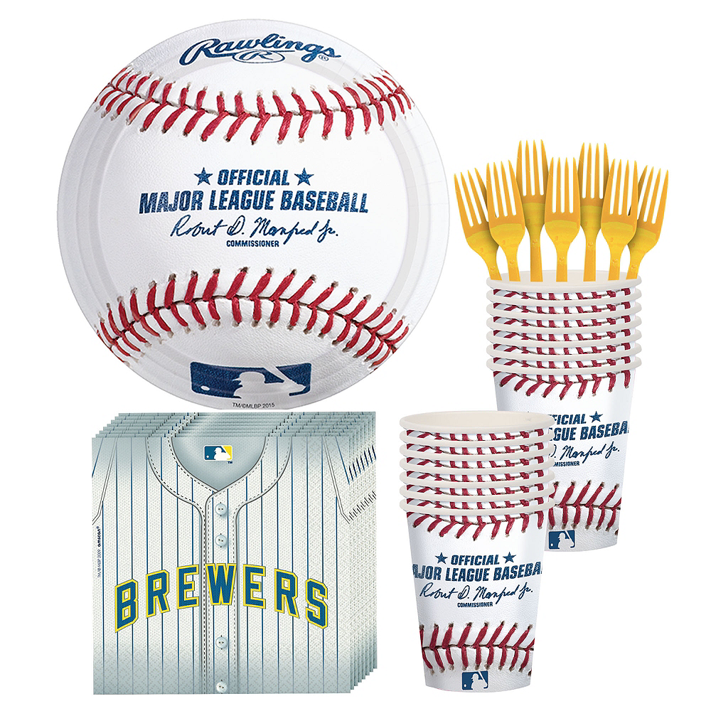 Milwaukee Brewers Party Kit for 16 Guests Image #1