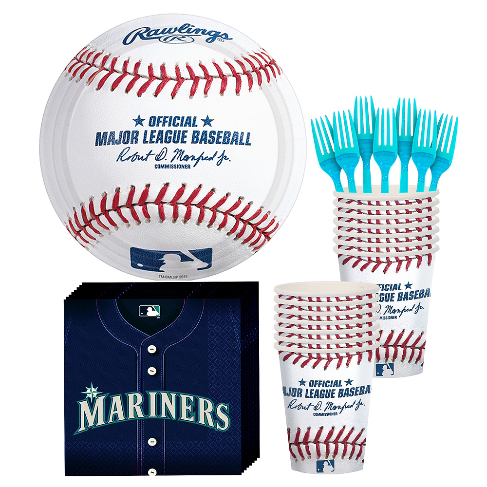 Seattle Mariners Party Kit for 16 Guests Image #1