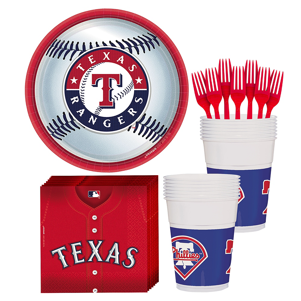 Texas Rangers Party Kit for 18 Guests Image #1