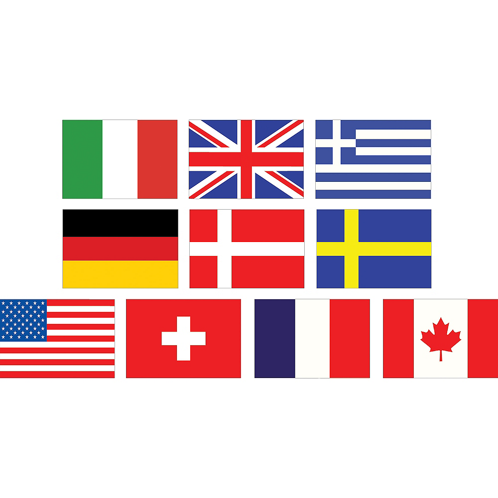 Mini International Flag Cutouts 10ct Image #1