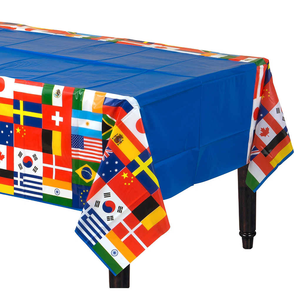 International Flags Plastic Table Cover Image #1