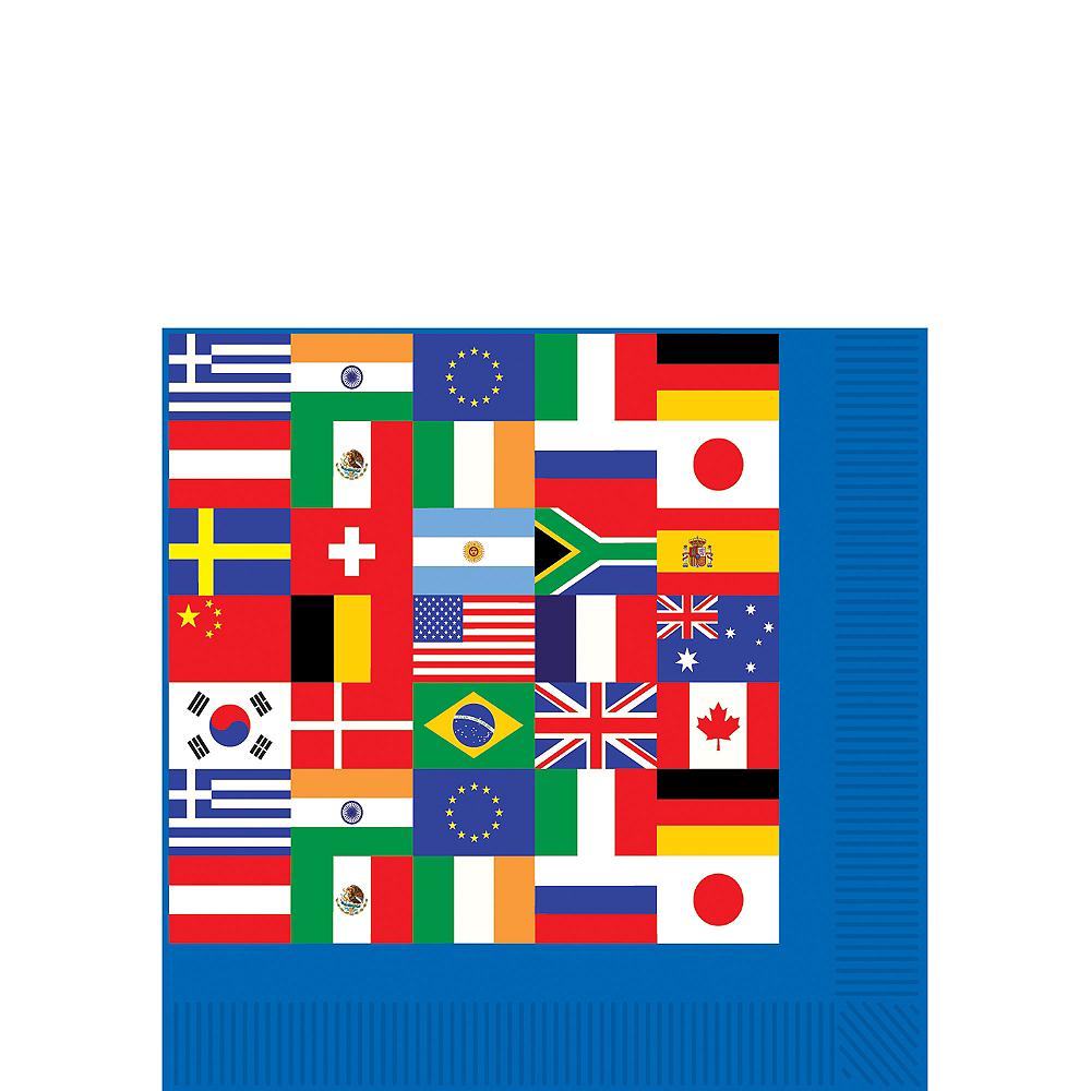 International Flag Beverage Napkins 16ct Image #1
