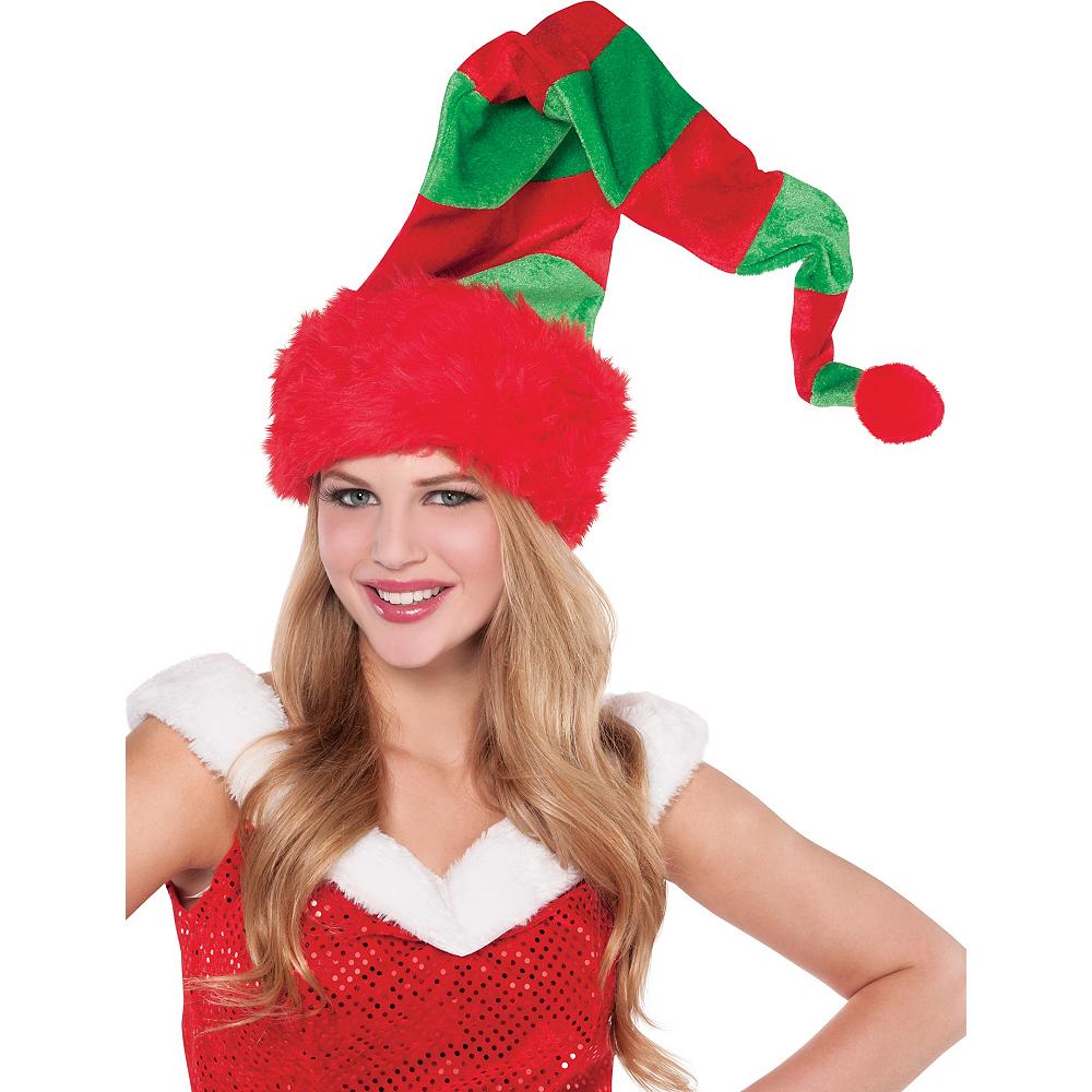 Long Striped Elf Hat Image #2