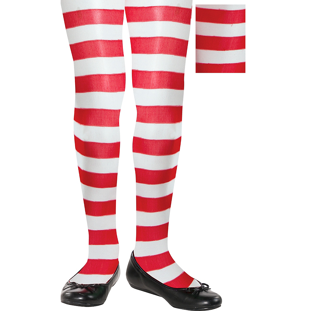 Child Candy Stripe Tights Image #1