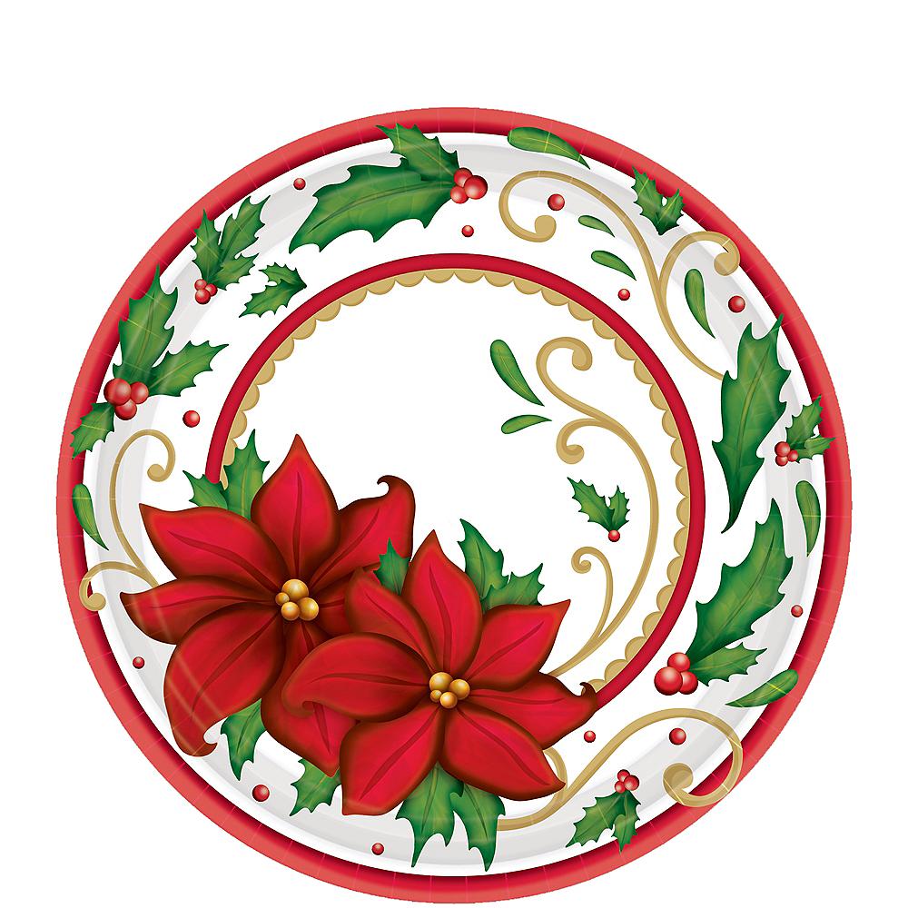 Winter Botanical Dessert Plates 60ct Image #1