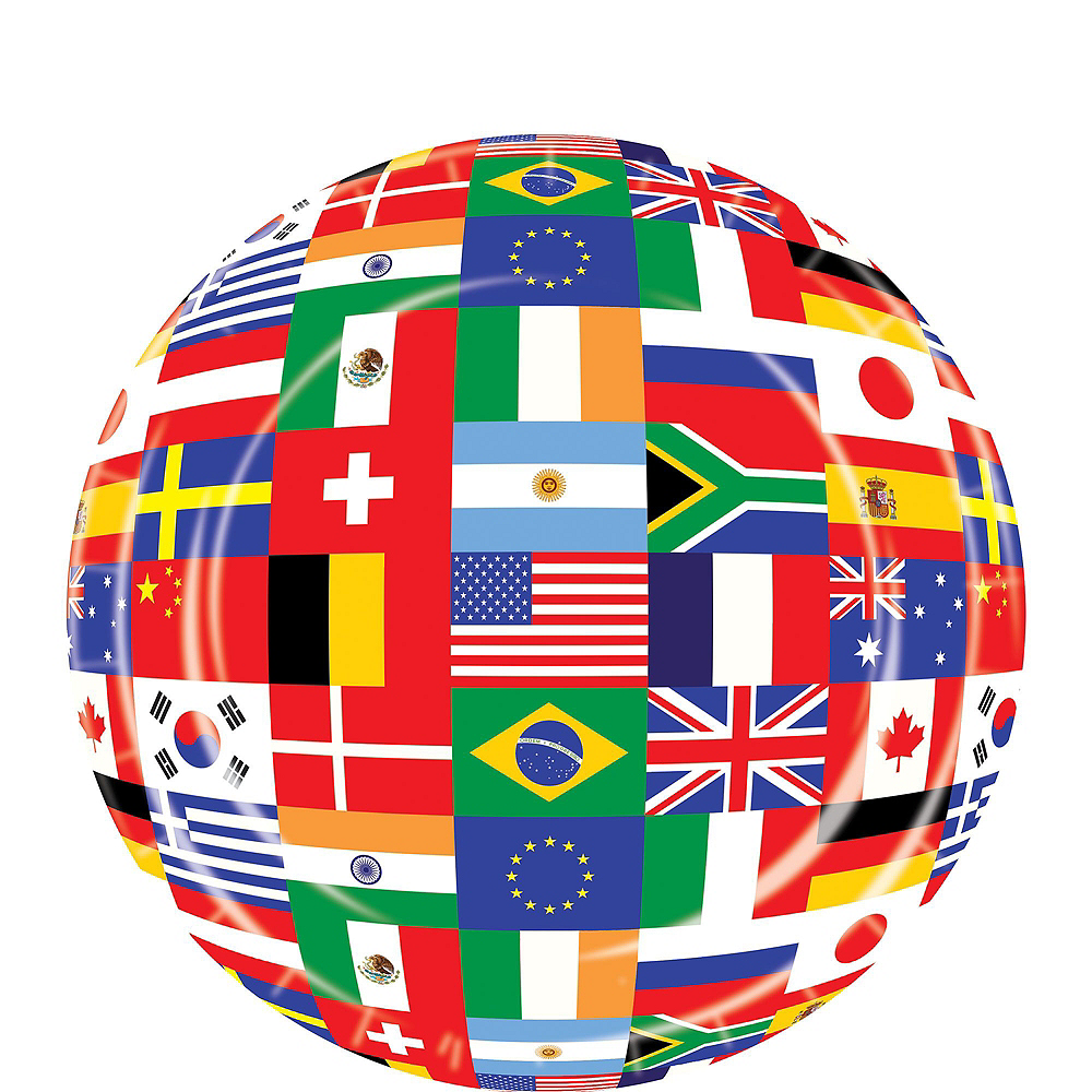 Super International Flag Party Supplies Party Kit for 16 Guest Image #2