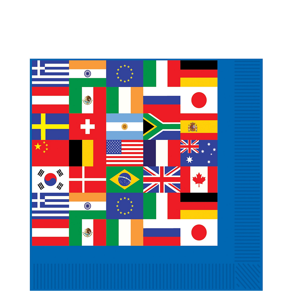 Super International Flag Party Supplies Party Kit for 16 Guest Image #5