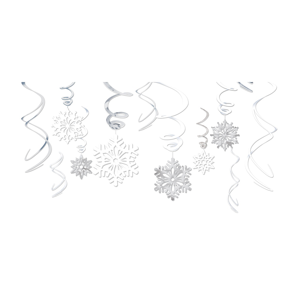 Nav Item for Snowflake Swirl Decorations 12ct Image #1