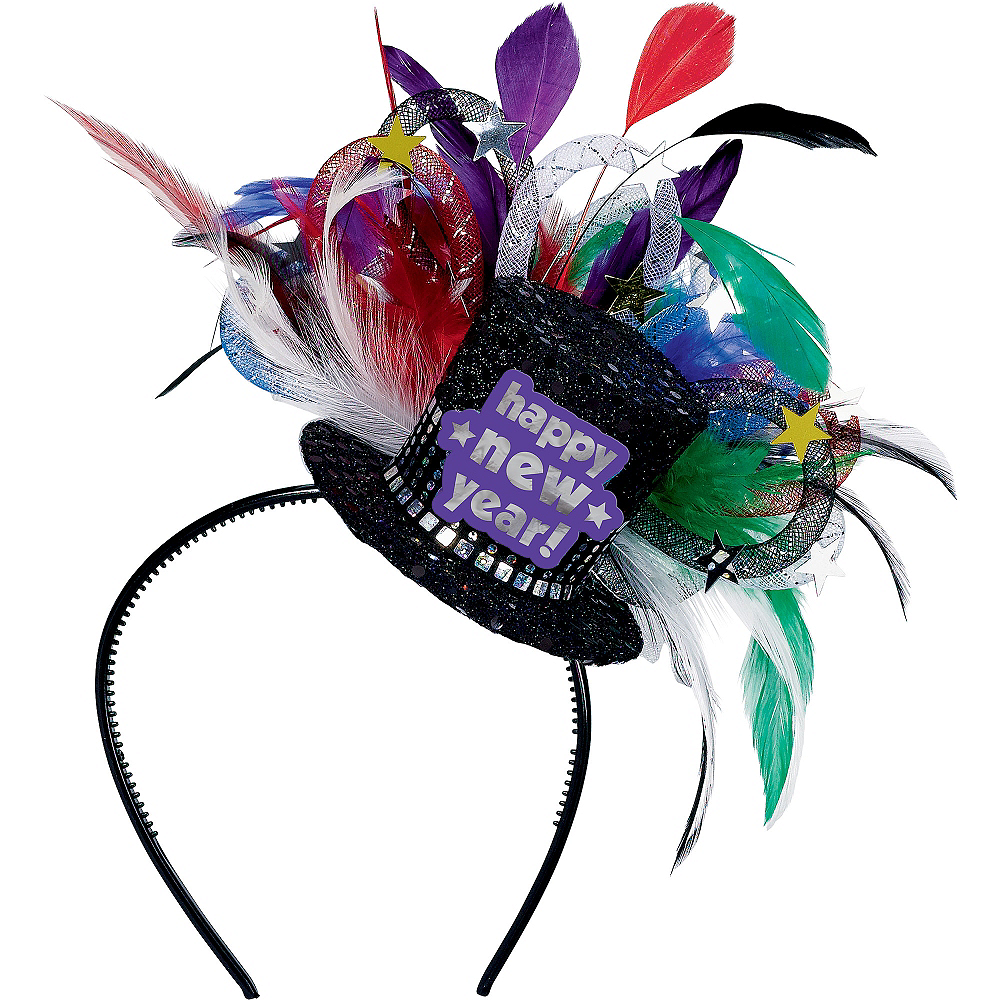 Colorful Feather Hat Headband Image #1