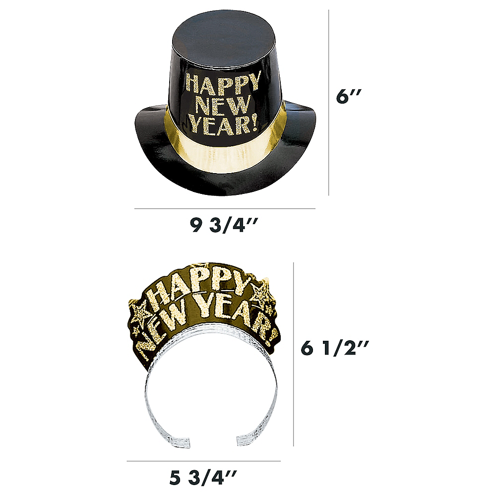 Kit For 10 - Midnight Elegance - Black, Gold & Silver New Year's Party Kit Image #4