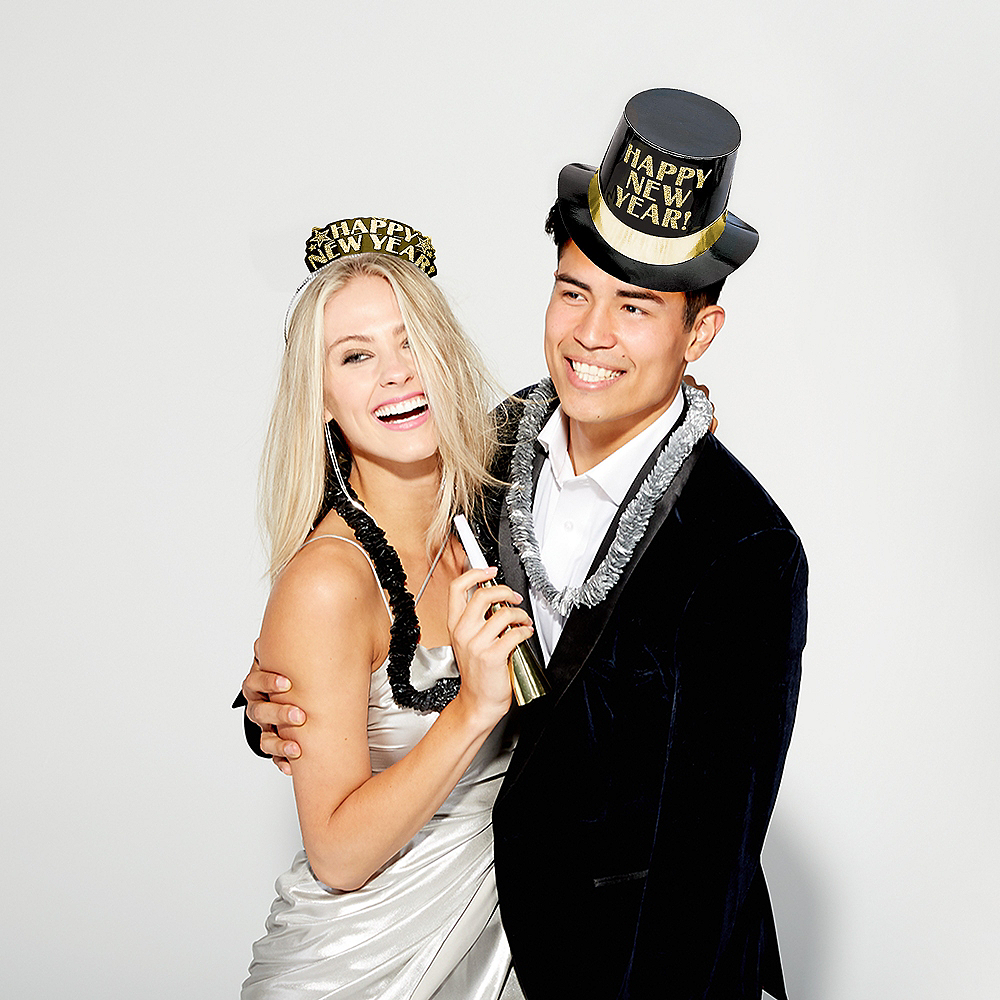 Kit For 10 - Midnight Elegance - Black, Gold & Silver New Year's Party Kit Image #5