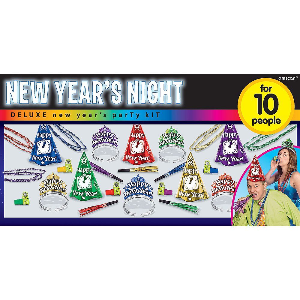 Kit For 10 - Colorful New Years Night New Year's Party Kit Image #2