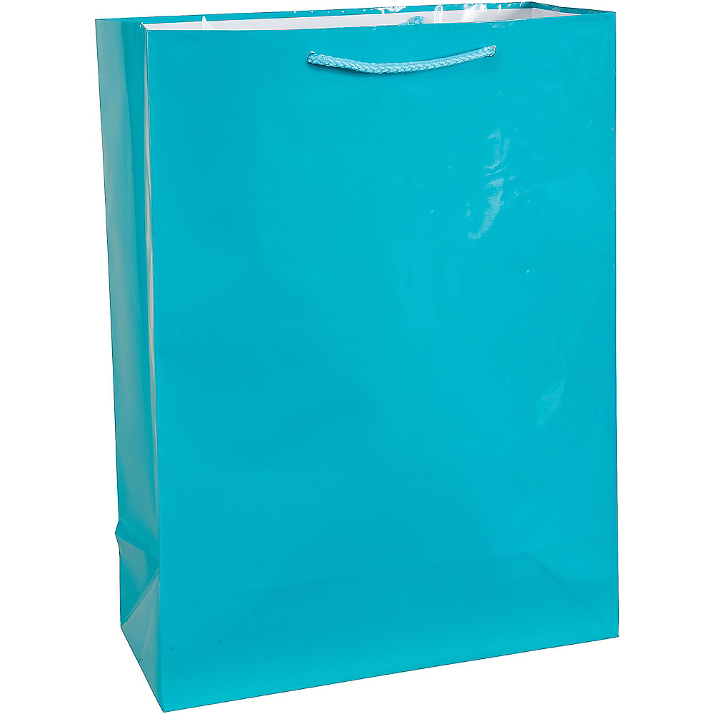 Large Caribbean Blue Gift Bag Image #1