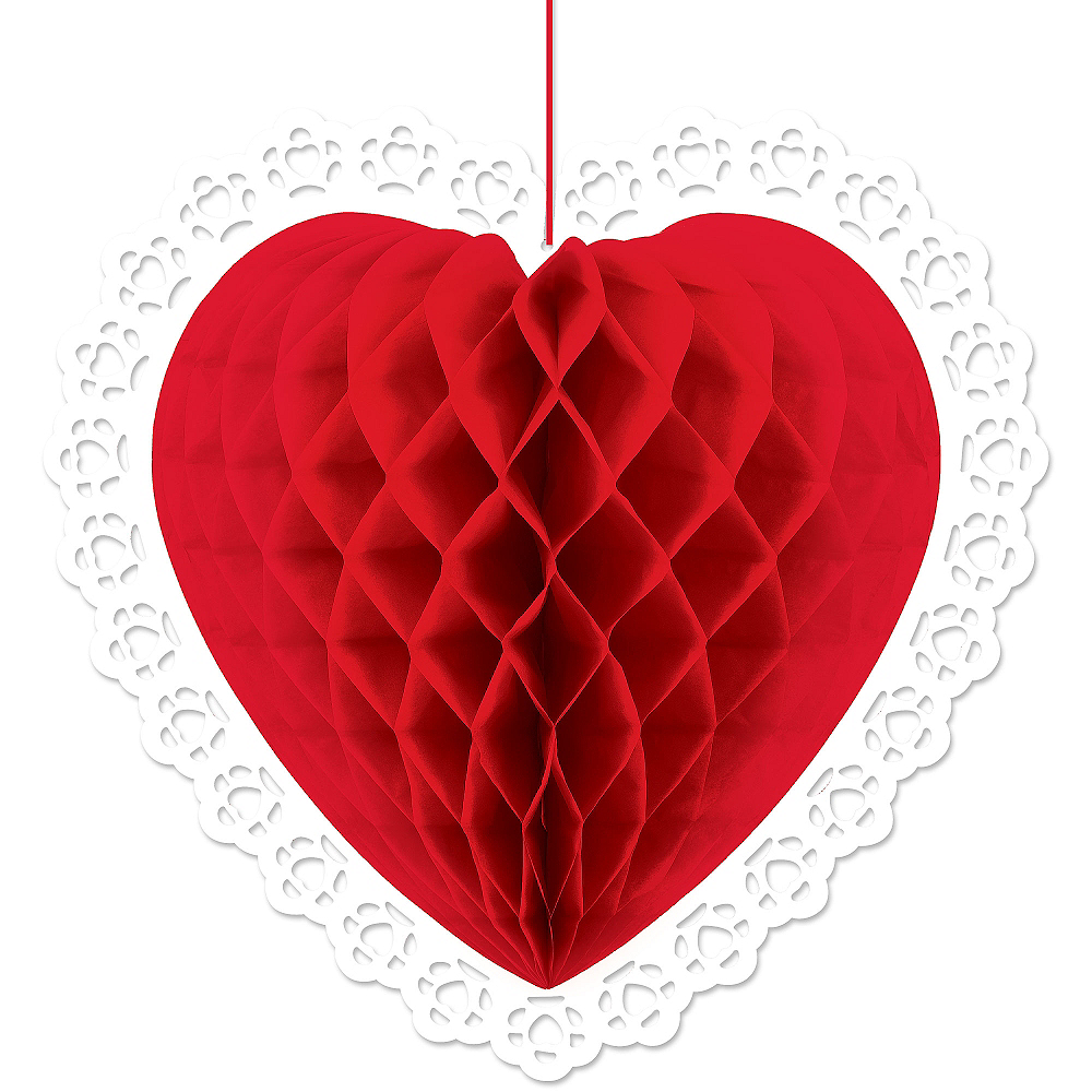 Red Heart-Shaped Honeycomb Image #1