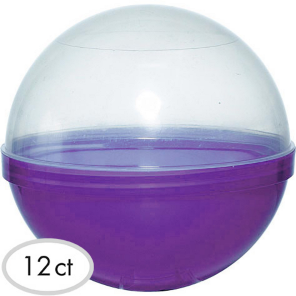 Purple Ball Favor Containers 12ct Image #1