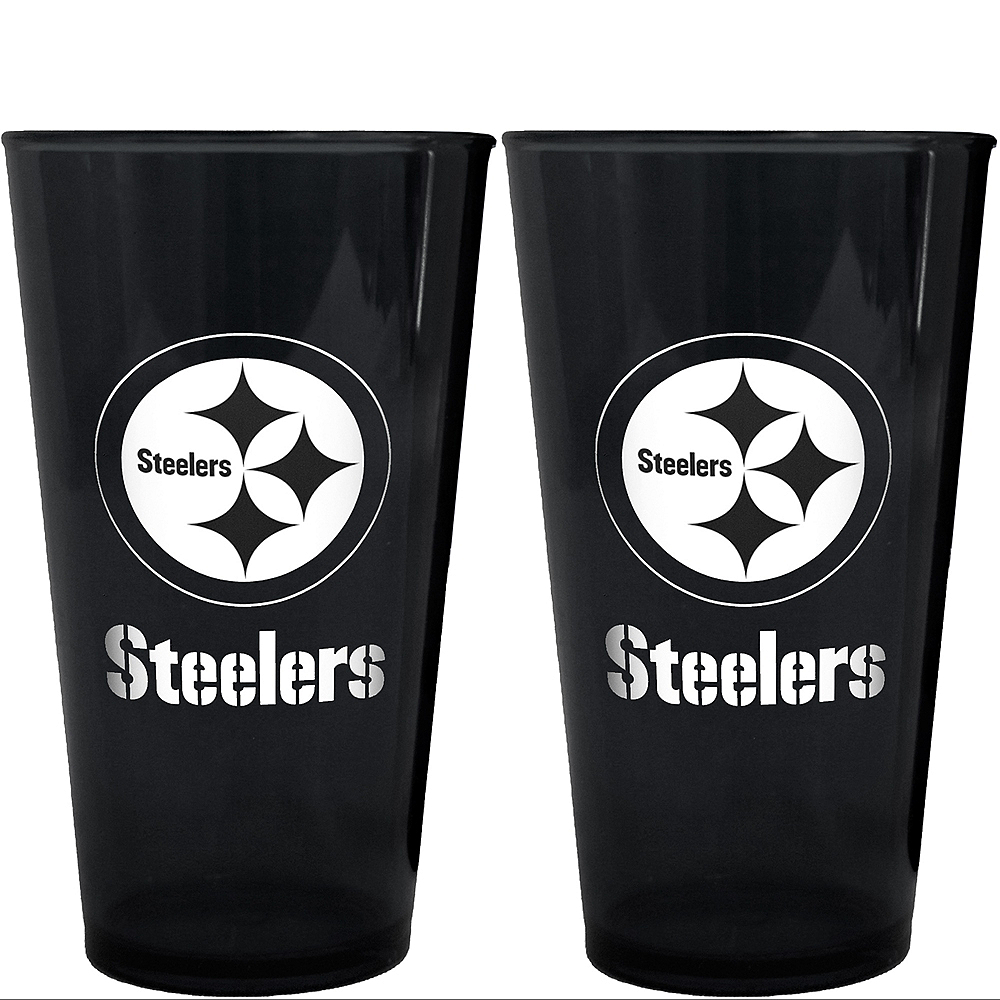 Pittsburgh Steelers Pint Cups 2ct Image #1