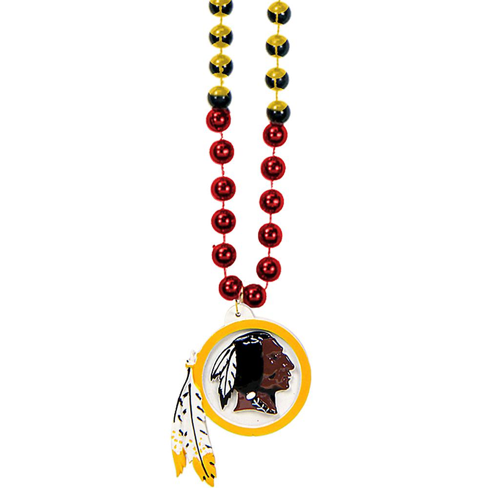 Washington Redskins Pendant Bead Necklace Image #1