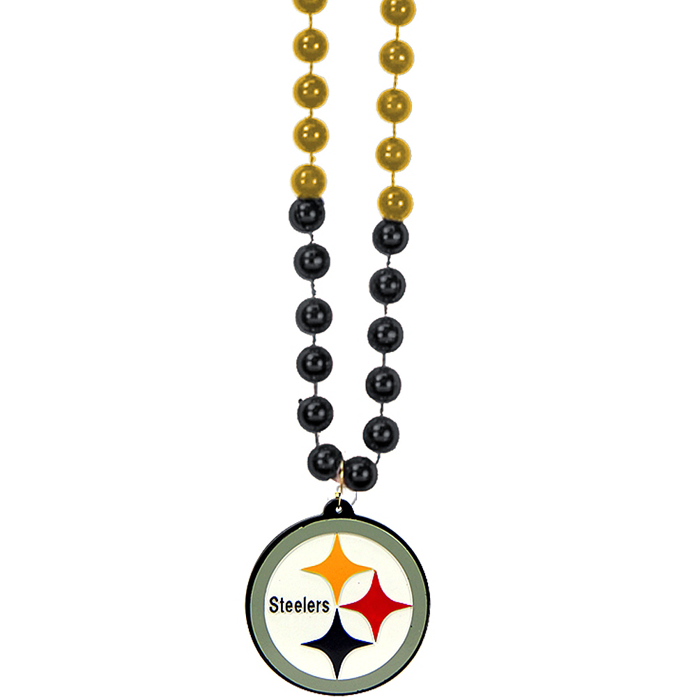 Pittsburgh Steelers Pendant Bead Necklace Image #1