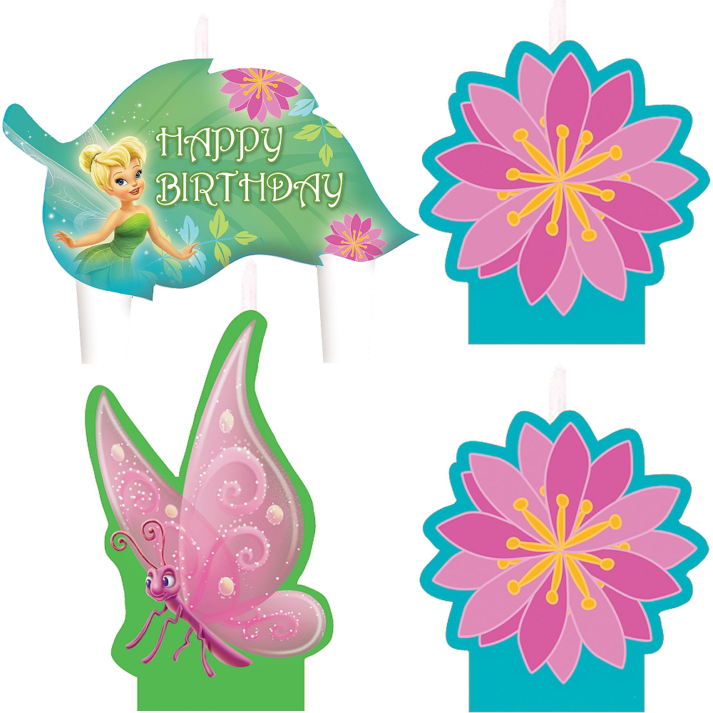 Tinker Bell Birthday Candles 4ct Image #1