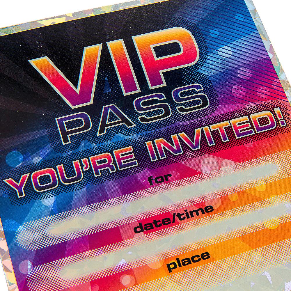 Premium Prismatic VIP Pass Invitations 8ct Image #3
