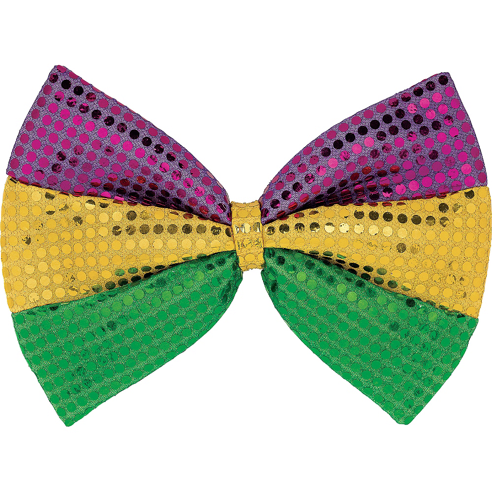 Sequined Purple, Gold, & Green Bow Tie Image #1
