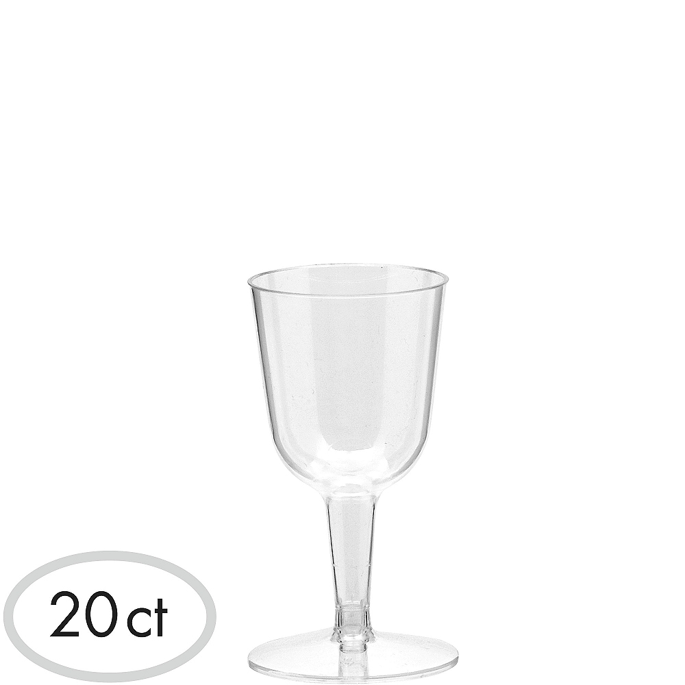 Mini CLEAR Plastic Wine Glasses 20ct | Party City