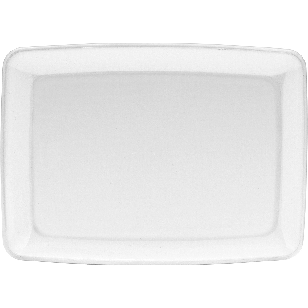 Nav Item for White Plastic Rectangular Platter Image #1