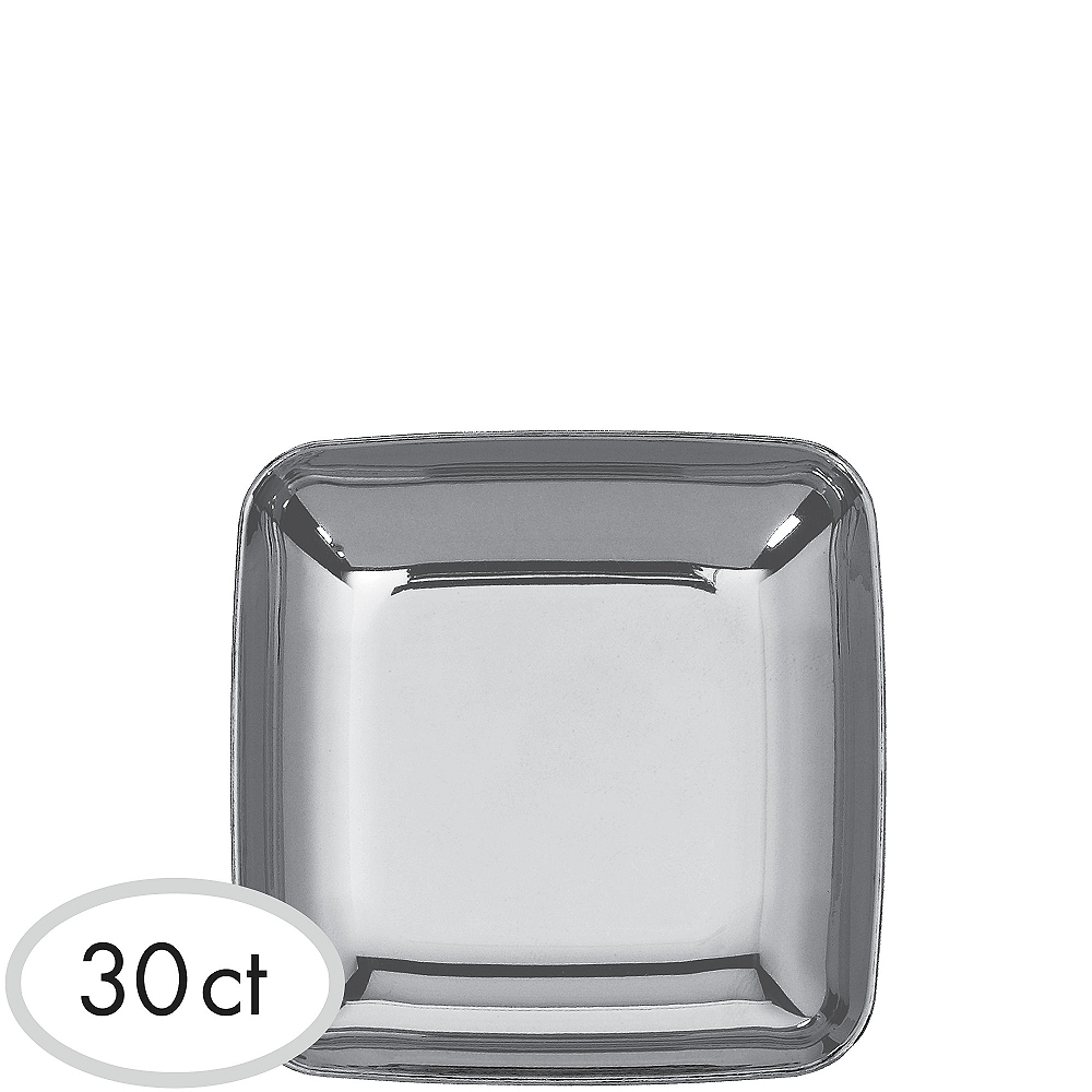 Nav Item for Mini Silver Plastic Plates 30ct Image #1