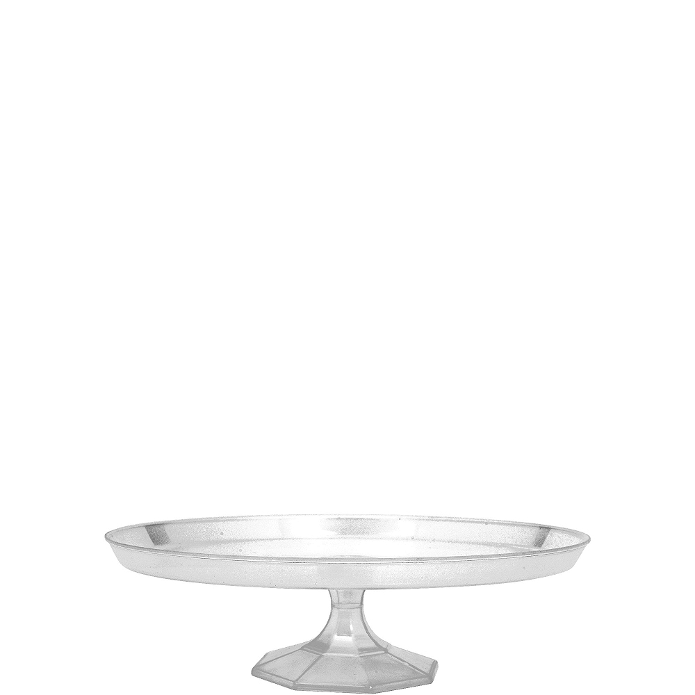 Small CLEAR Plastic Cake Stand Image #1