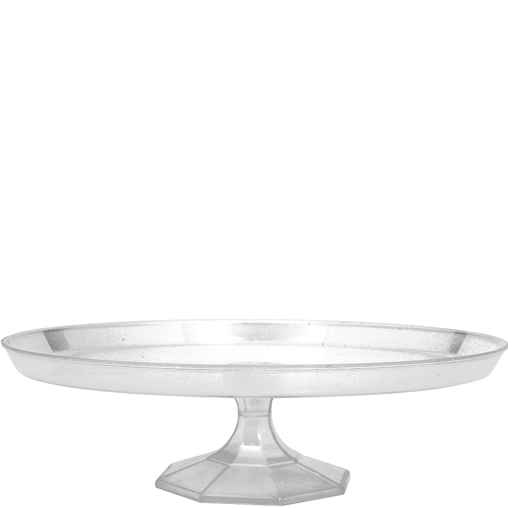 Large CLEAR Plastic Cake Stand Image #1