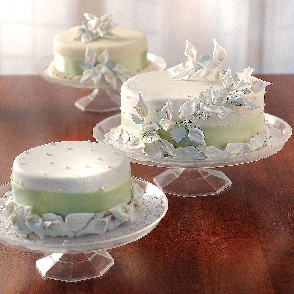 Large CLEAR Plastic Cake Stand Image #2