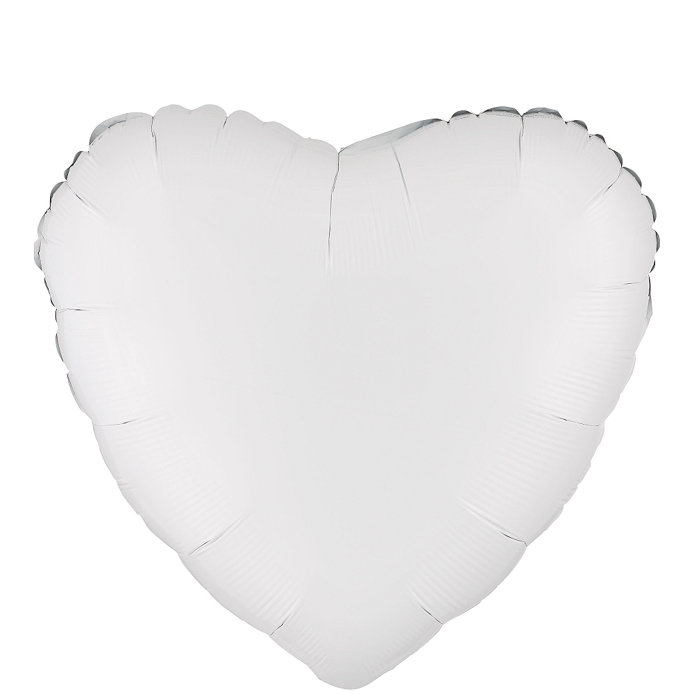 17in White Heart Balloon Image #1