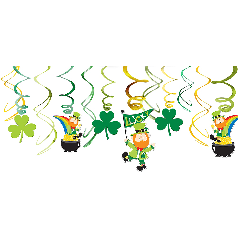 Leprechaun Swirl Decorations 12ct Image #1