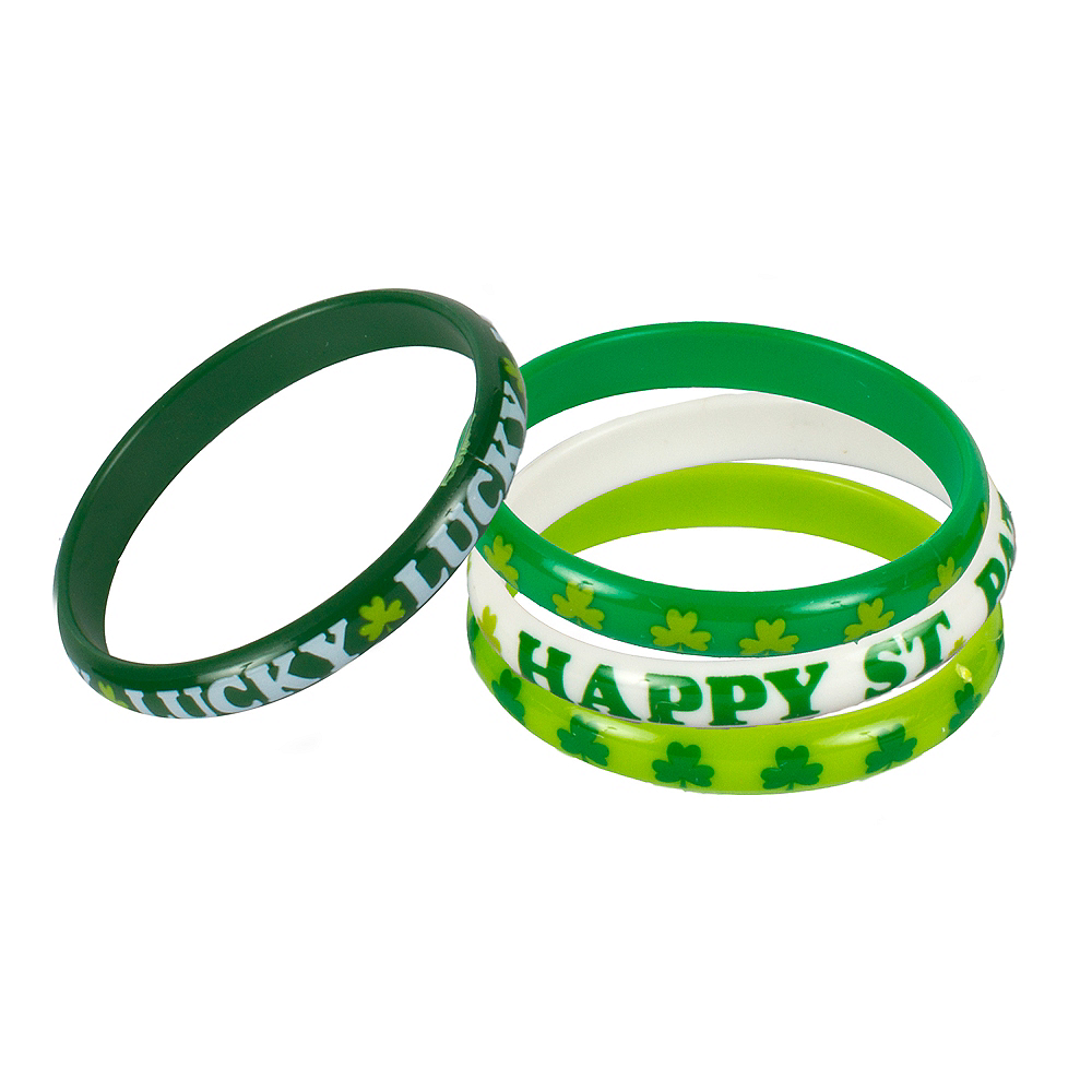 Nav Item for St. Patrick's Day Bangles 4ct Image #1