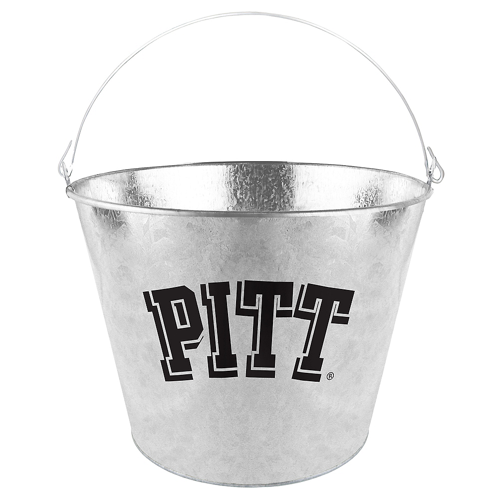 Nav Item for Pittsburgh Panthers Galvanized Bucket Image #1