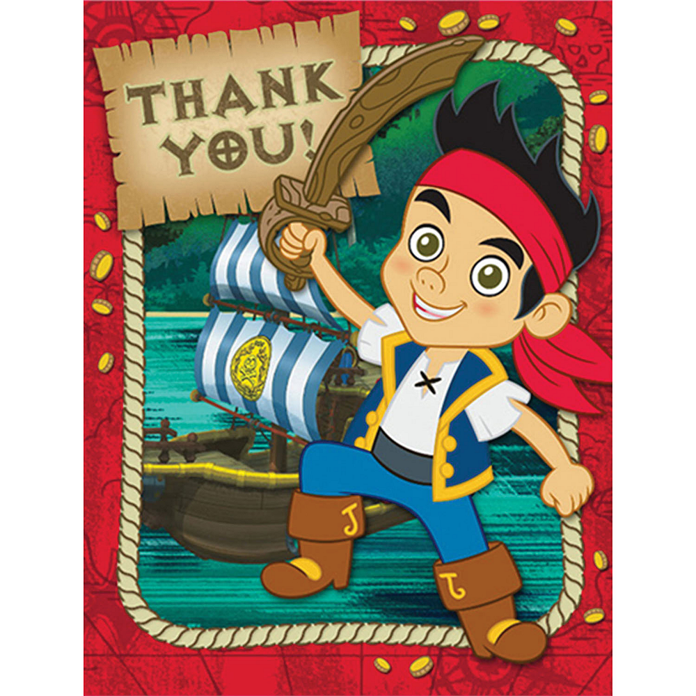 Red Jake and the Never Land Pirates Thank You Notes Image #1