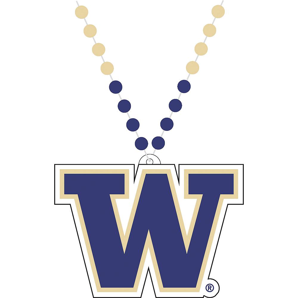 Washington Huskies Pendant Bead Necklace Image #1