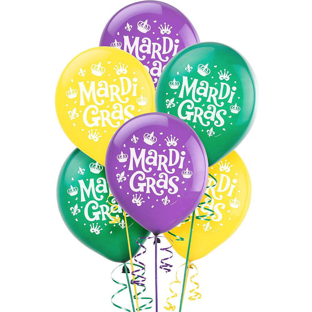 Assorted Mardi Gras Balloons 15ct Image #1