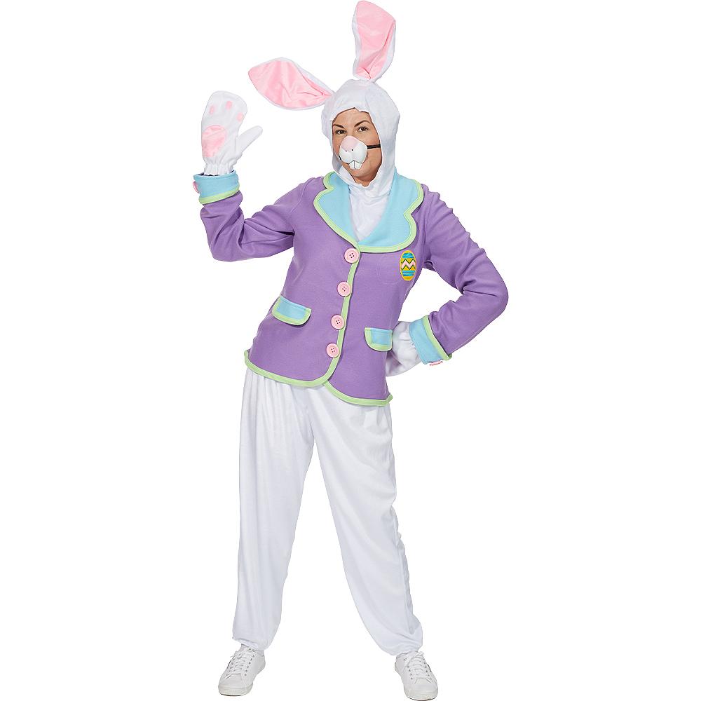 Adult Purple Bunny Costume Image #4
