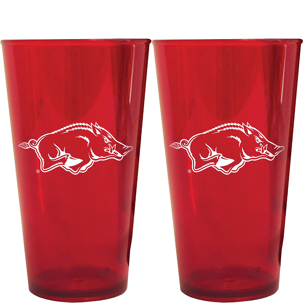 Arkansas Razorbacks Pint Cups 2ct Image #1