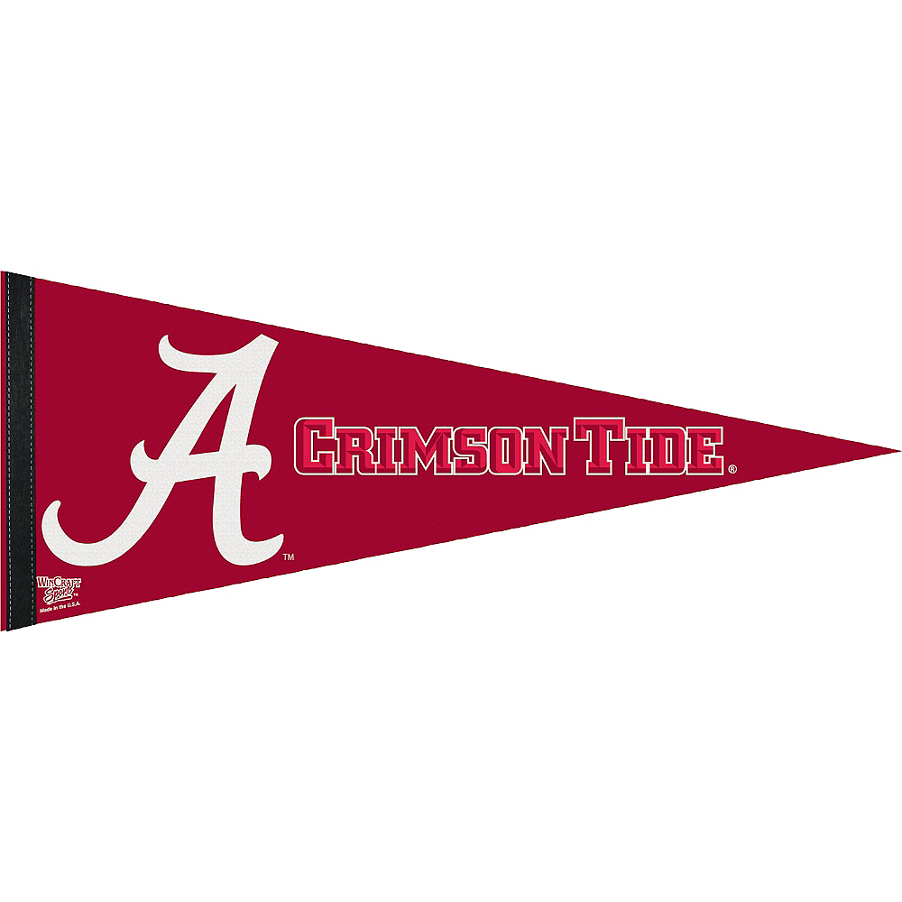 Alabama Crimson Tide Pennant Flag Image #1